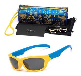 Oculos Ogrife Solar Infantil Og 973-i Flexível Polarizado