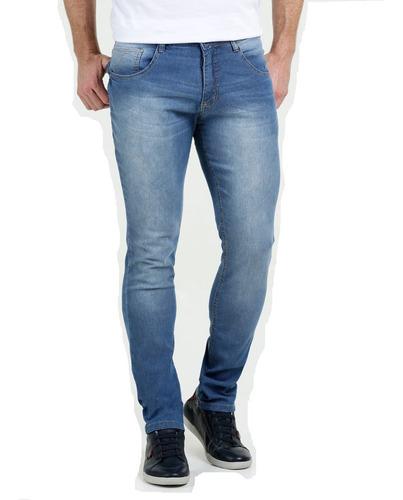 Imagem 1 de 4 de Calça Jeans Com Lycra Stretch Masculina Skinny Plus Size