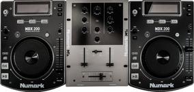 Combo Cdj E Mixer Cd Dj In A Box Ndx 200 Numark