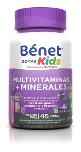 Benet Kids Multivitamino Y Minerales 45 Gomas