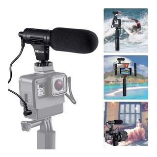 Hopemob Microfono Para Camara Dslr Reflex Canon Nikon Sony Entrada De Conexion De 3.5 Mm Profesional Ligero