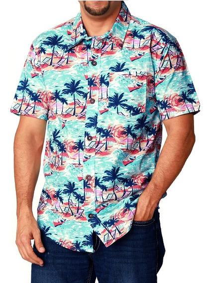 Camisa Hawaiana Para Caballero 100% Algodón Varios Diseños