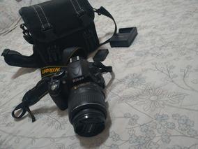 Camera Nikon D3100 Com Lente E Bolsa