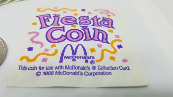 Moedas Mac Donalds Comemorativas Fiesta 1988 Paises America