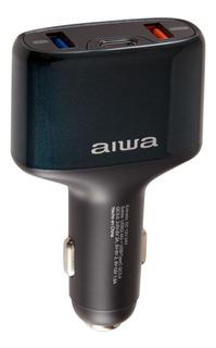 Aiwa Cargador De Auto Usb Tipo C 3.0 Qualcom Aw-qc3