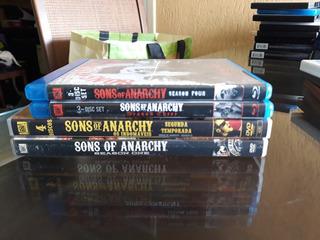 Sons Of Anarchy - 1a Até 4a Temporadas - Dvd E Blu Ray