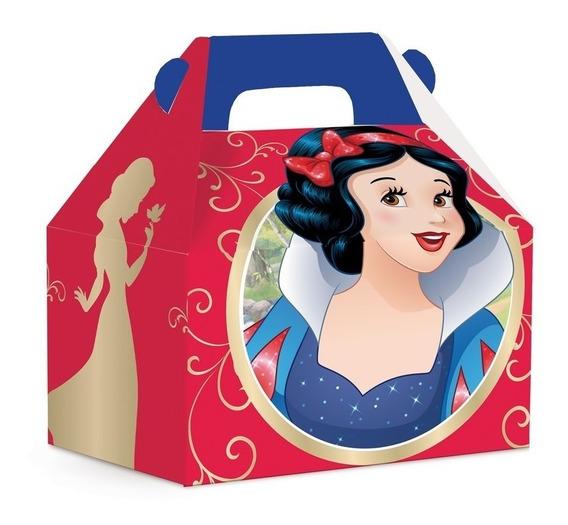 Caixa Maleta Kids Surpresa Branca De Neve Disney C/10