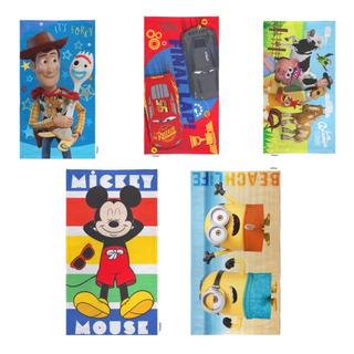 Toallon Piñata Nene Cars Zenon Toy Mickey Min Ct Plumitaa Pñ