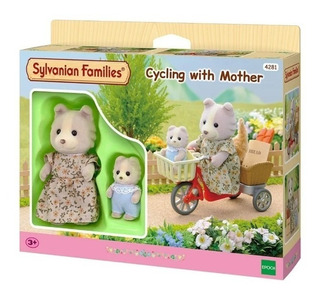 Sylvanian Families Paseo Con Mama Cycling With Mother 4281