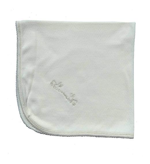 Mantita Recibidora Jersey Calado C/bordado 100 % ALG