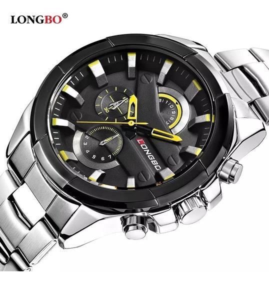 Relógio Masculino Longbo Aço Inoxidável Muito Top.