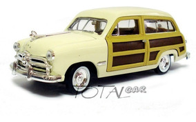 Ford Woody Wagon 1949 1:24 Bege Motor Max Promoção