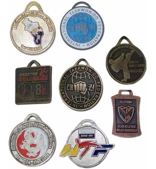 Medallas Con Logo 90 Mm Doble Faz Diseño Propio De Metal 9cm
