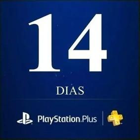 Playstation Psn Plus 14 Dias Ps4 Ps3 Jogue Online Sem Cartão