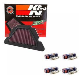 Kit Filtro De Ar Esportivo K&n + Vela Ngk Iridium Xj6 N F Xj