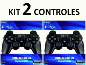 Controle Ps3 Manete Dualshock 3 Sony Playstatio ( Kit 2 Un )