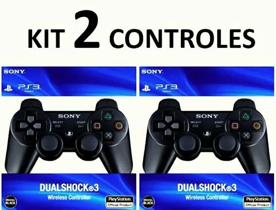 Controle Ps3 Manete Dualshock 3 Sony Playstatio ( Kit 2 Un )