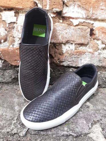 Tênis Shoes Sapatênis Slip On Hugo Boss Preto Lançamento
