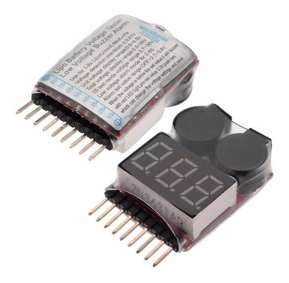 Buzzer Teste Alarme Monitor De Voltagem De Bateria 1a8s Lipo