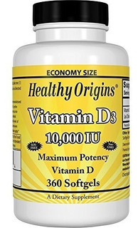 Vitamina D3 10000 Ui Healthy Origins 360 Softgels Original