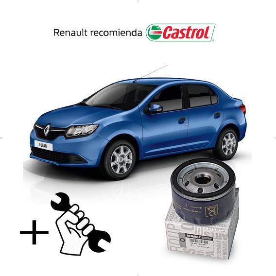 Cambio Filtro + Aceite Castrol 10w40 Renault Logan 1.6 16v