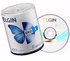 200 Dvd-r 4.7gb Elgin Com Logo ( Nao Serve P Jogos)