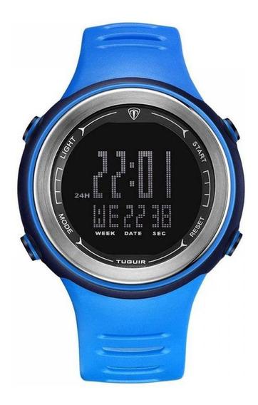 Relógio Unissex Tuguir Digital Tg001 Azul