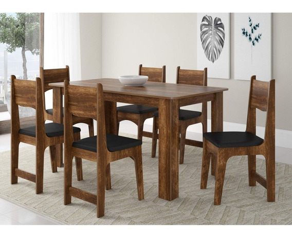 Sala Jantar 6 Cadeiras Nicoli Sonetto Móveis Ic