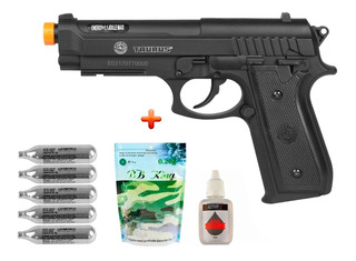 Pistola Airsoft Co2 Taurus Pt92 +bb King 0.20g +silicone+co2