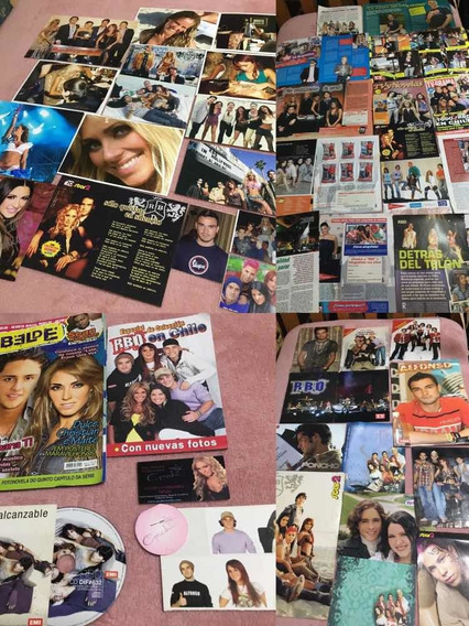 Rbd Lote De Colección (negociable) - Cd , Stickers , Posters