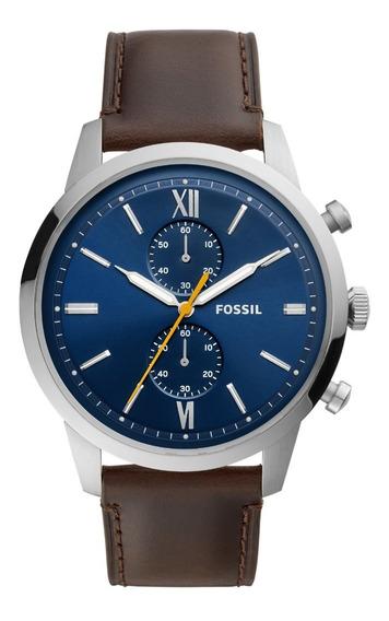 Relógio Fossíl Masculino Com Pulseira De Couro Fs5549/0an