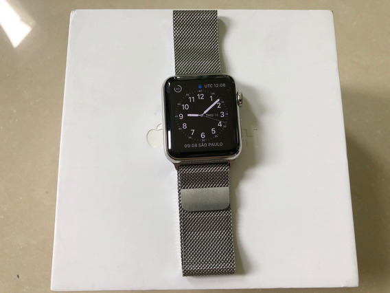 Apple Watch Series 42mm Pulseira Milanese Aço Inoxidável