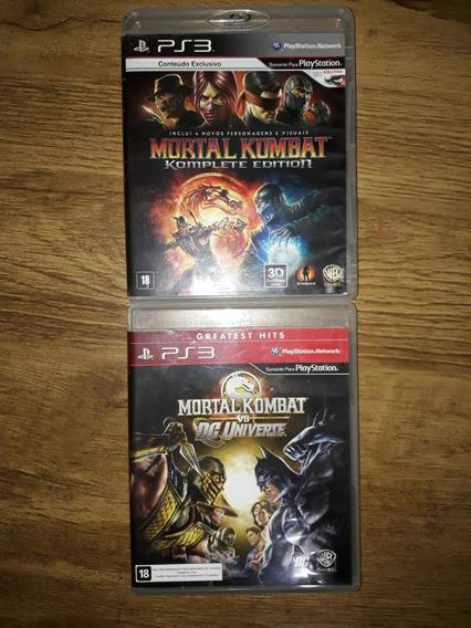 Mortal Kombat 9 + Mk Vs Dc Universe Ps3