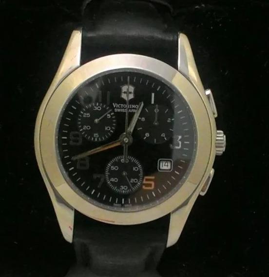 Relógio Victorinox Swiss Army Cronômetro E Vidro De Safira