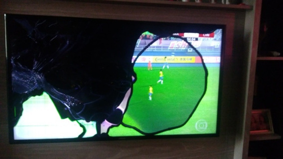 Smart Tv Samsung, 40 Pol. Semi Nova, Batida Na Tela.