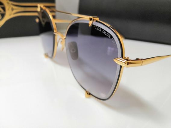 Óculos De Sol Dita Talon Two 23009 Dourado E Preto Degradê