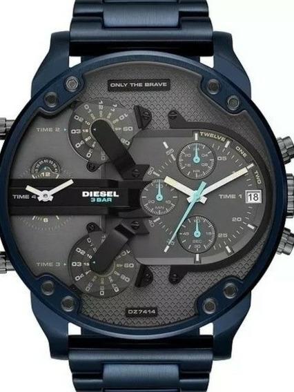 Relógio Masculino Quartz Duas Máquinas Bigdial Frete Grátis