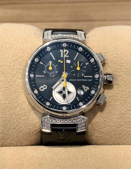 Relógio Louis Vuitton Tambour Cup Diamond Q132k-c/documentos