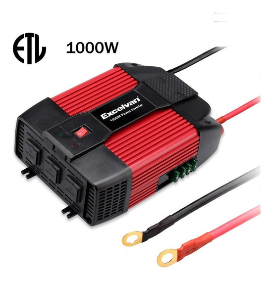 Inversor Excelvan 1000w Car Power Inverter 12v Dc To 110v Ac
