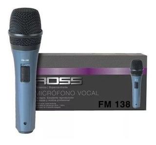 Micrófono Ross Fm138 Vocal De Mano
