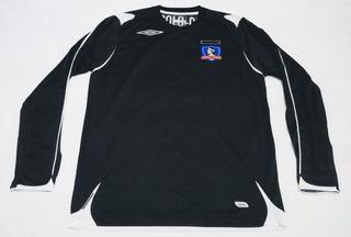 Camisa Colo Colo Chile 2007 Manga Longa Segundo Uniforme