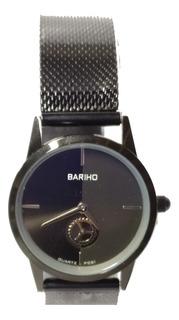 Reloj Pequeño Elegante De Lujo Malla Metálica Bariho