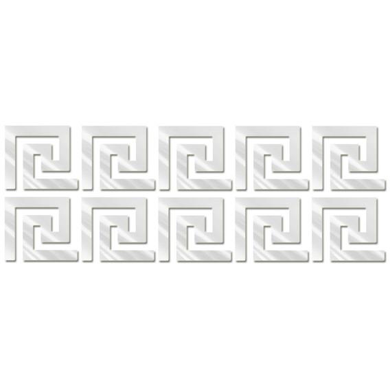 Espelho Decorativo Labirinto Com 20 Unidades De 17 X 15 Cm