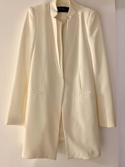 Saco/blazer Blanco Zara Basic Talle S