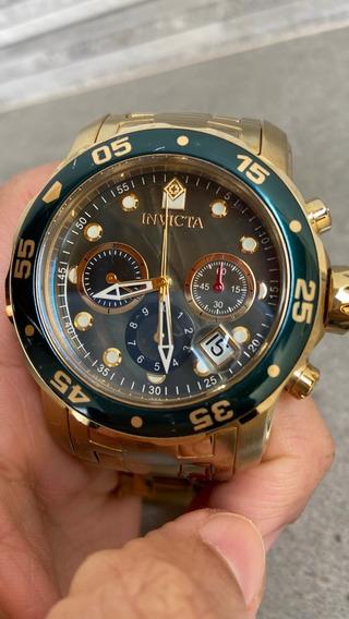 Relógio Invicta Pro Diver Dourado | Usado E Sem Caixa