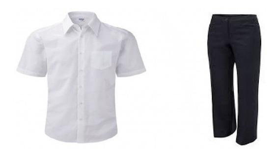 Camisa Escolar Blanca Talla 4 A 6