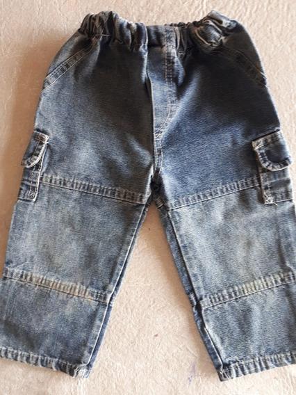 Pantalón Largo Jean Azul Oscuro Niños Unisex Talle 2 $200