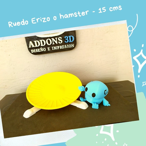 Imagen 1 de 1 de Disco De Ejercicio Para Erizos - Hamster -15 Cms- Rodamiento