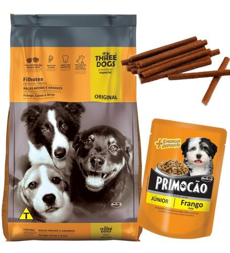 Three Dogs Premium Especial Cachorro 15 Kg Con Regalos