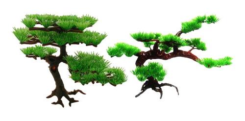 Imagen 1 de 11 de 2 Pedazo De La Decoración Del Árbol De Pino Verde Tanque